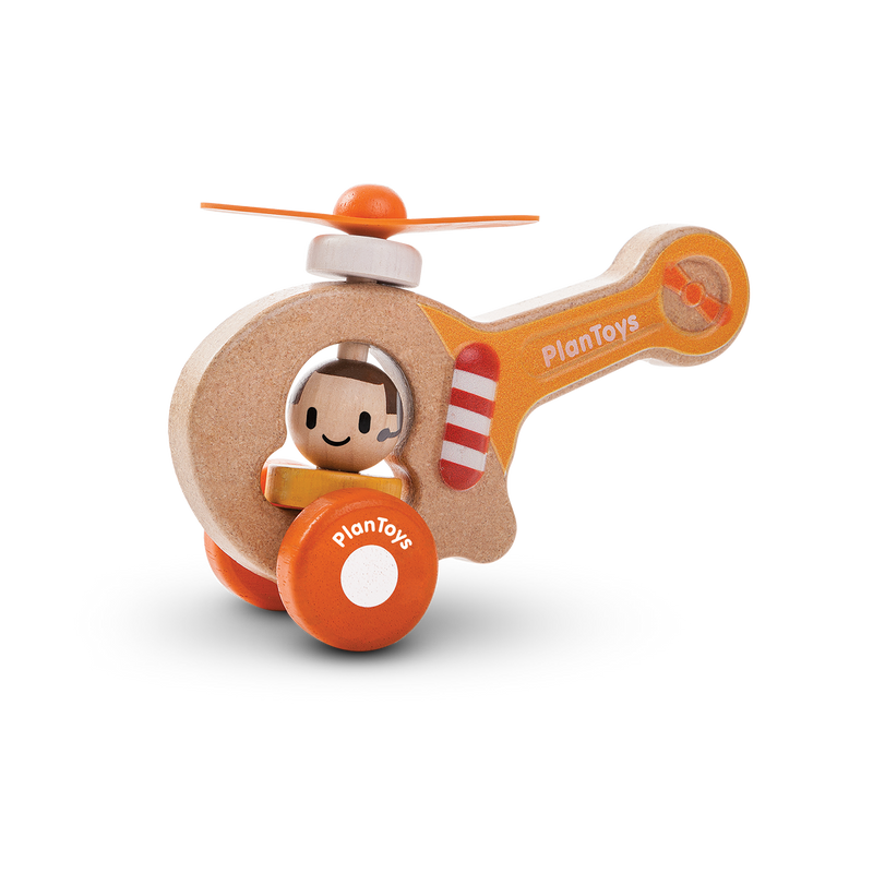 Waterlemon Kids, Plan Toys, Helicopter, Toy, Toy, Toys, Wood Toy