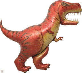 "Helium Foil Balloon- 47"" Red T-Rex"
