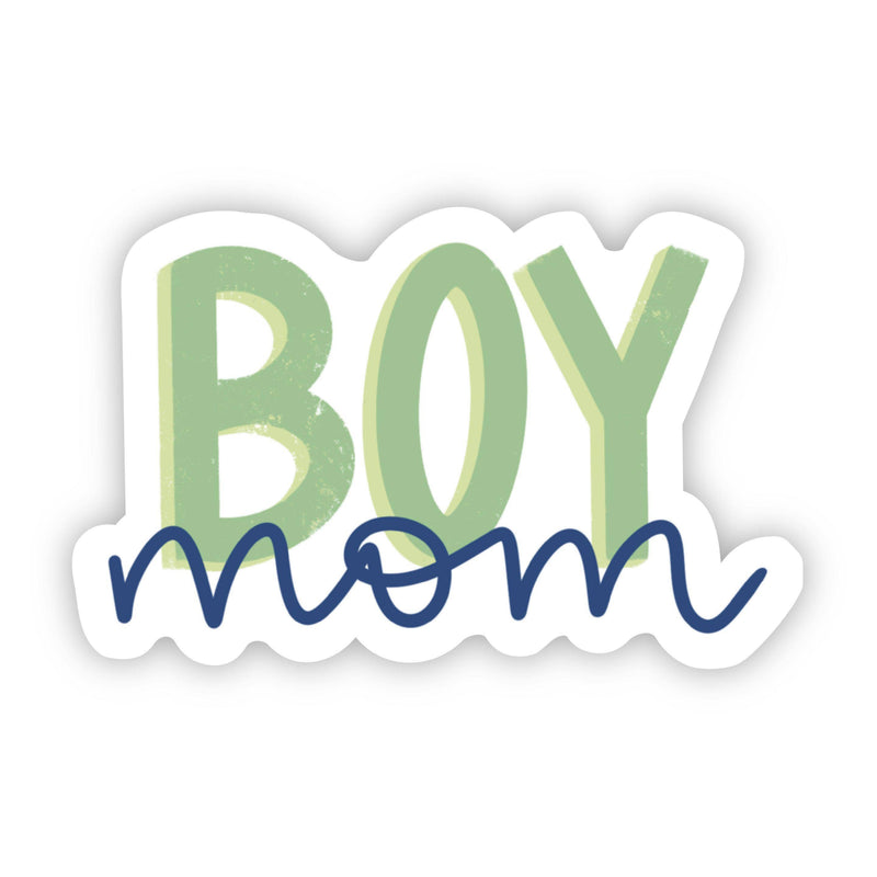 Boy Mom Green & Blue Sticker