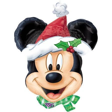"Helium Foil Balloon- 27"" Christmas Mickey Mouse"