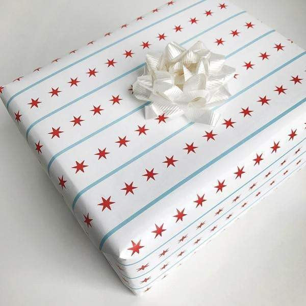 Waterlemon Kids - Chicago Flag Gift Wrap - Gift Wrap