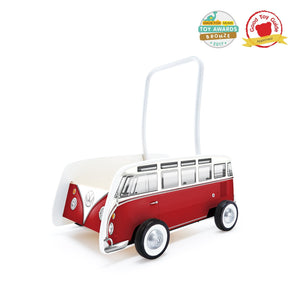 Waterlemon Kids, Hape, Classical Bus T1 Walker- Red, Toy, Toy, Toys, Wood Toy