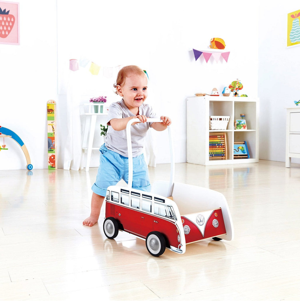 Waterlemon Kids - Classical Bus T1 Walker- Red - Toy