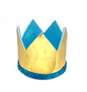 Boy Crown- Shiny Gold and Blue
