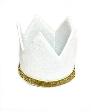 Boy Crown- White and Gold