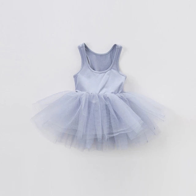 Tutu Dress- Grey with attached Top