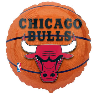 "Helium Foil Balloon- 18"" Chicago Bulls NBA Balloon"