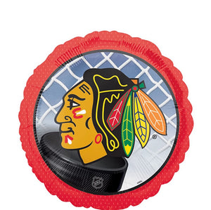 "Helium Foil Balloon- 18"" Chicago Blackhawks NHL Balloon"