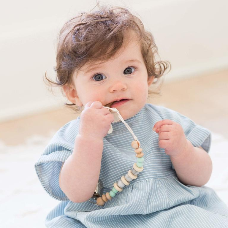 Madison Mint Marble Pacifier Clip