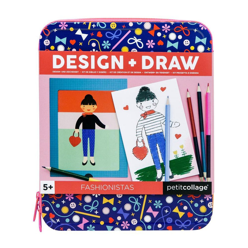 Waterlemon Kids, Petit Collage, Fashionistas Design & Draw - Travel Activity Kit, Drawing Kit, Drawing Kit, Toy, Toys