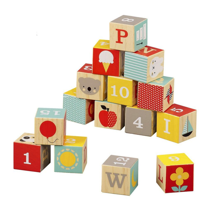 Waterlemon Kids, Petit Collage, ABC Wooden Blocks, Blocks, Blocks, Toy, Toys, Wood Toy