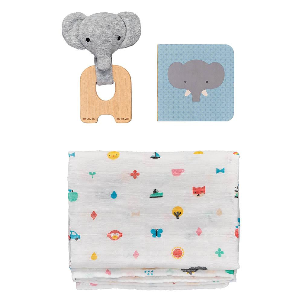 Waterlemon Kids, Petit Collage, Little Elephant Gift Set, Gift Set, Gift Set, Toy, Toys, Wood Toy