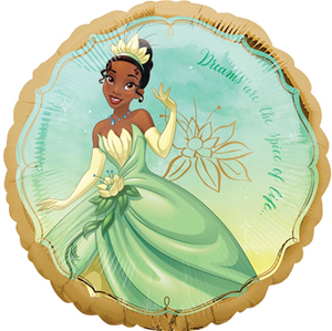 "Helium Foil Balloon= 18"" Tiana Once Upon a Time"