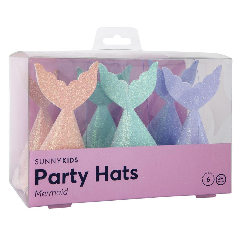 Mermaid Party Hats- Set of 6