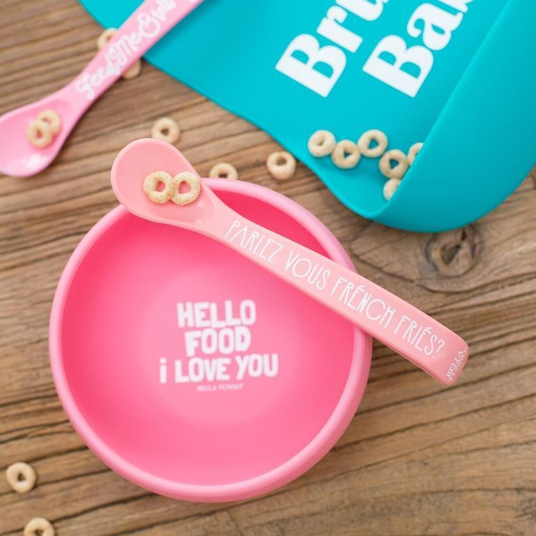 Waterlemon Kids - Hello Food I Love You- Suction Bowls - Bowls