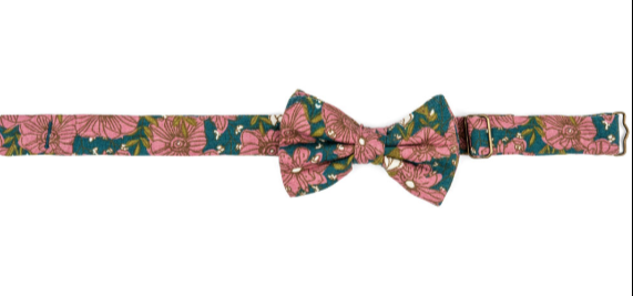 Bow Tie Teal Floral