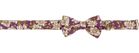Bow Tie Purple Floral