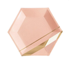 Peach and Gold Marble Plate Small