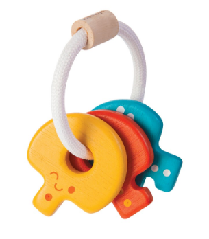 Waterlemon Kids, Plan Toys, Baby Rattle Keys, Toy, Keys, Rattle, Toy, Toys, Wood Toy