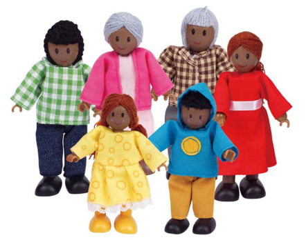 Waterlemon Kids, Hape, Happy Family African American, Toy, Baby, Toy, Toys, Wood Toy