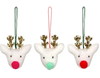 Pom Pom Reindeer Tree Decoration Set
