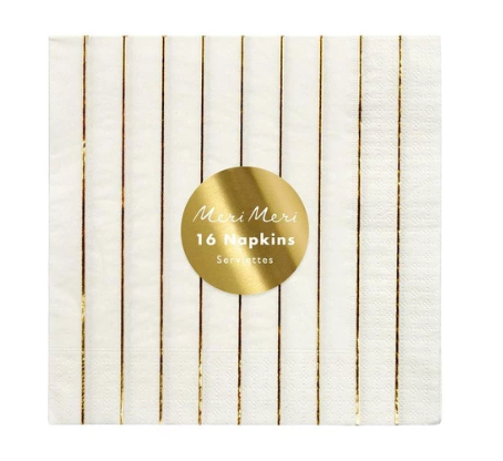 Gold Stripe- Large Napkin