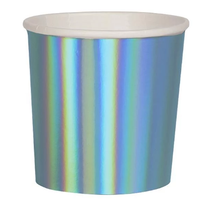 Holographic Blue Cups