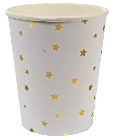 Waterlemon Kids, MERI MERI, Gold Star Cups, Cup, 4th of July, cups, Party, Plate, Tableware