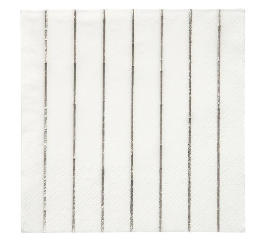 Silver Stripe Small Napkin