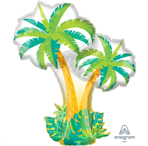 "Waterlemon Kids, BR BALLOONS, Helium Foil Balloon- 34"" Palm Tree, Balloon, Balloons, helium-filled"