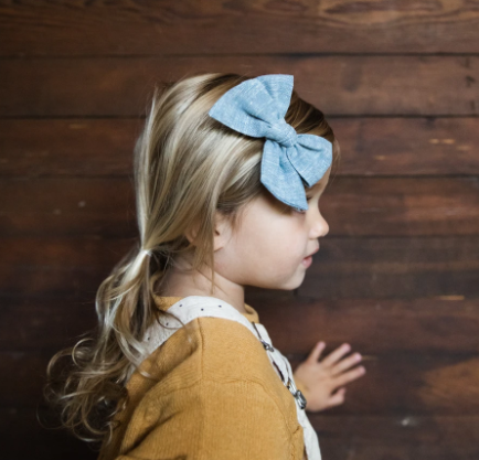 Chambray | Oversized Hand-tied Bow