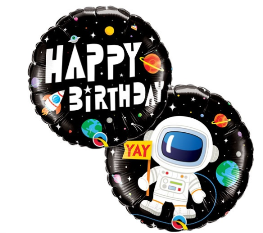 "Waterlemon Kids, BR BALLOONS, Helium Foil Balloon- 18"" Birthday Astronaut, Balloon, Balloons, helium-filled"