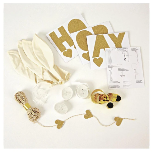 Latex Balloon- Glittered Balloon Kit