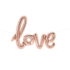 "Foil Balloon- 40"" Rose Gold LOVE Script Balloon"