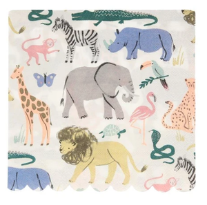 Safari Animals Large Napkins