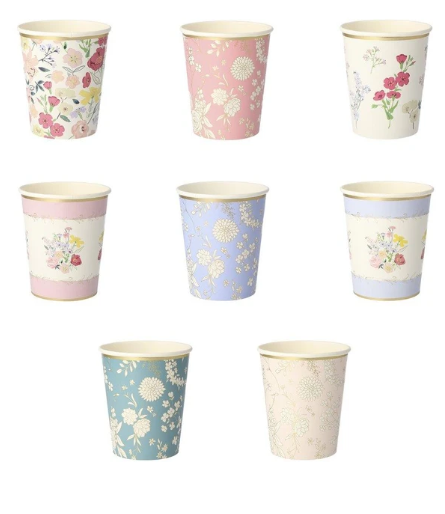 Waterlemon Kids, MERI MERI, English Garden Party Cups, Cup, Party, Tableware