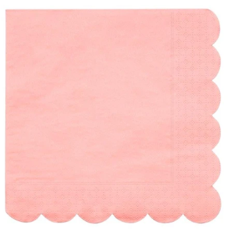 Neon Coral Large Napkins