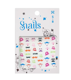 Snails Nail Art Stickers- Mustache
