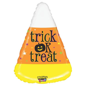 "Helium Foil Balloon- 27"" Trick Or Treat Candy Corn"