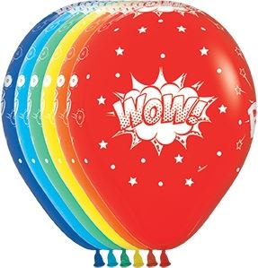 "Waterlemon Kids, BR BALLOONS, Helium Latex Balloon- 11"" Comic Burst Print, Balloon, Balloons, helium-filled"
