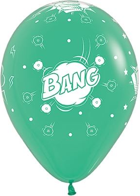 "Helium Latex Balloon- 11"" Comic Burst Print"