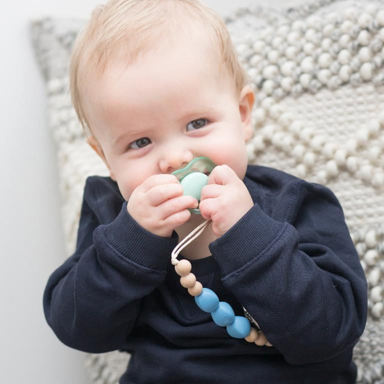 Waterlemon Kids - Blair Blue Pacifier Clip - Jewelry