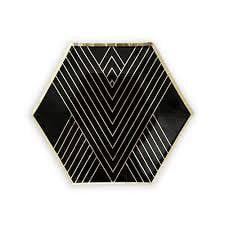 Black and Gold Plate Large - Waterlemon Kids - Plate