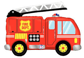 "Waterlemon Kids, BR BALLOONS, Helium Foil Balloon- 40"" Fire Truck, Balloon, Balloons, helium-filled"
