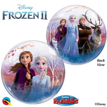 "Waterlemon Kids, Waterlemon Kids, Frozen 2 Vinyl Bubble Balloon- 22"", Balloon, Balloon Accessories, Balloons, disney, frozen, helium-filled"