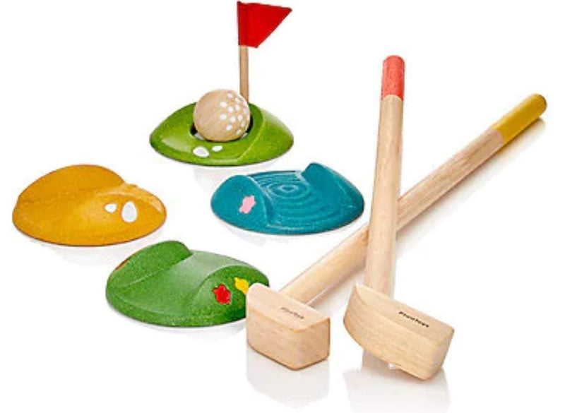 Waterlemon Kids, Plan Toys, Mini Golf Full Set, Toy, Toy, Toys, Wood Toy