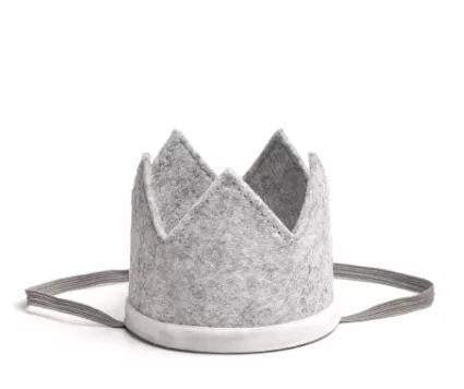 Waterlemon Kids - Boy Crown Gray and White - Crown