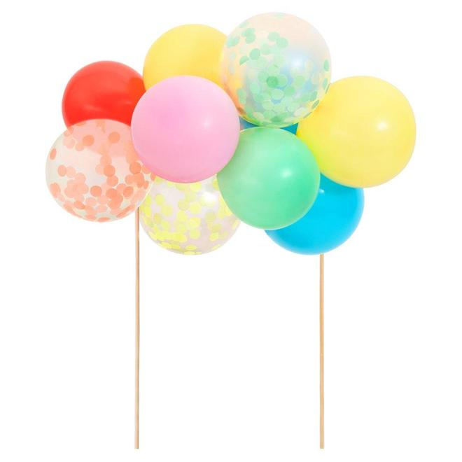 Rainbow Balloon Cake Topper
