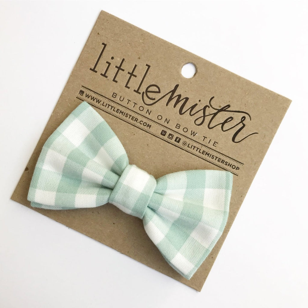 Sage Checker Bow Tie