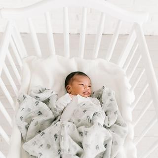 Muslin Swaddle- Gray Castle